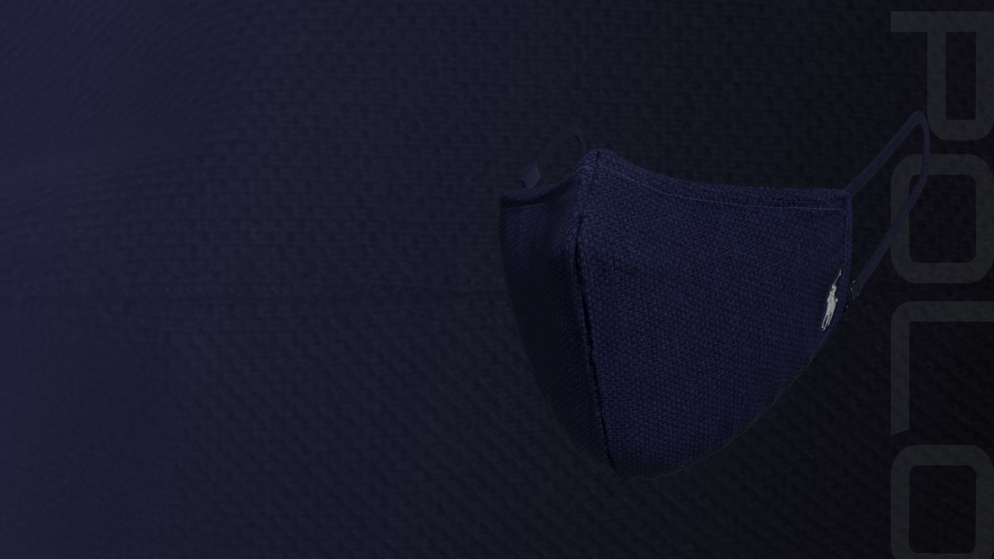 Polo high-filtration mask in navy.