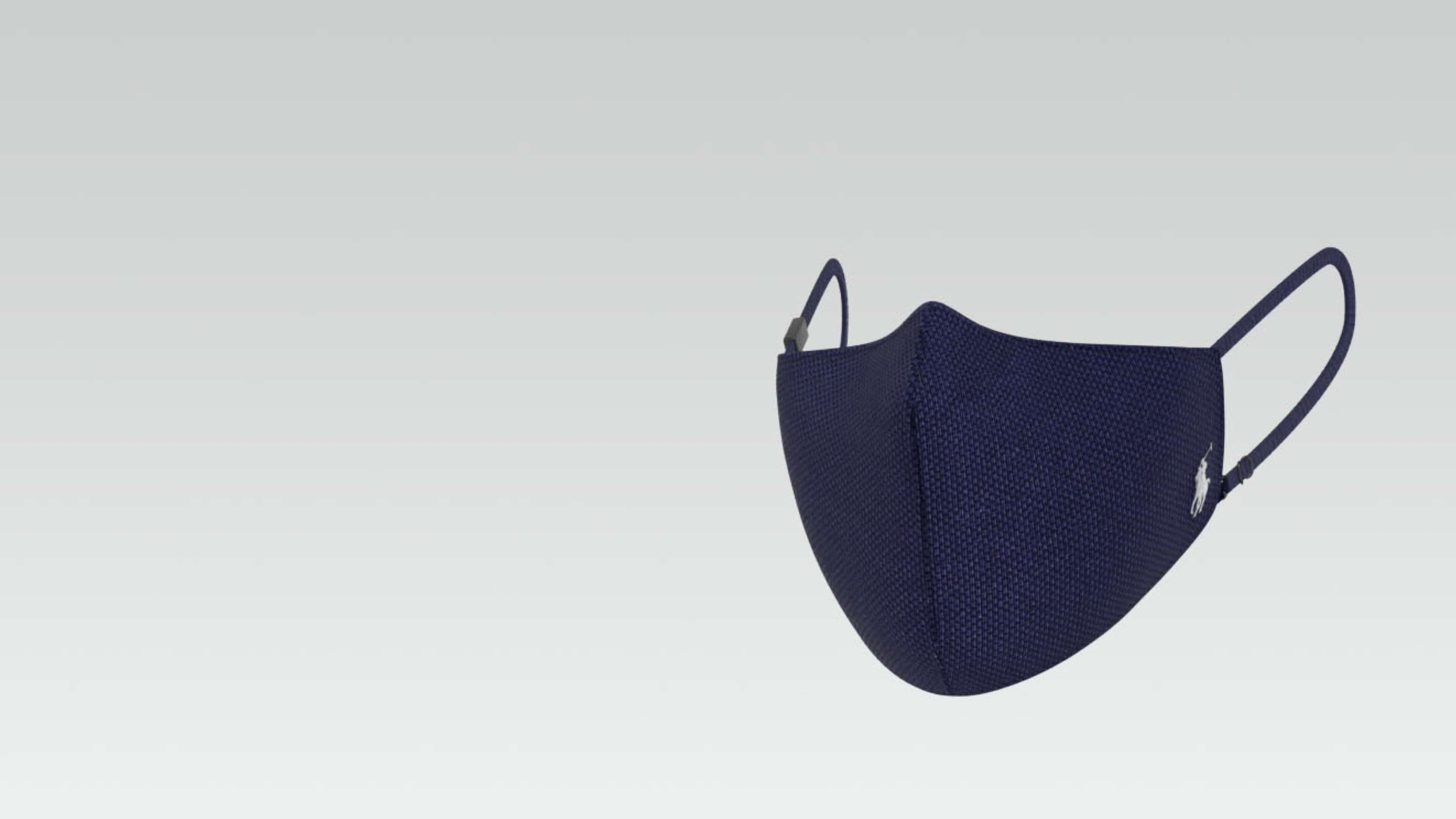Black Polo high-filtration face mask.