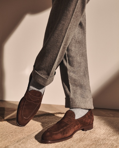 Gregory Herringbone Trouser