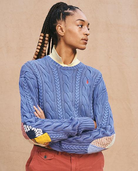 Pullover mit Ellbogenaufnähern