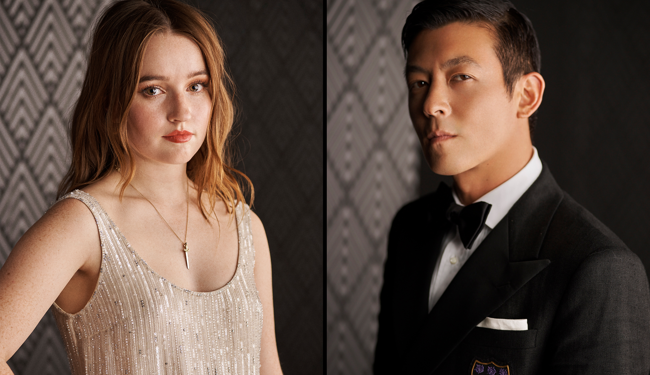 Left: Kaitlyn Dever; Right:  Edison Chen
