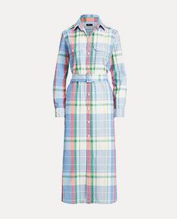 Baumwollhemdkleid mit Madraskaro