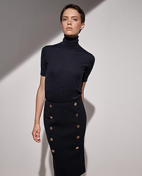 Ophelie Wool-Blend Skirt