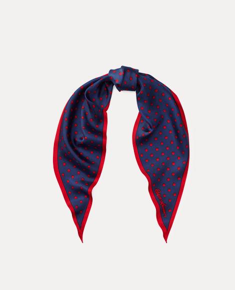 Art Deco Dot Silk Scarf