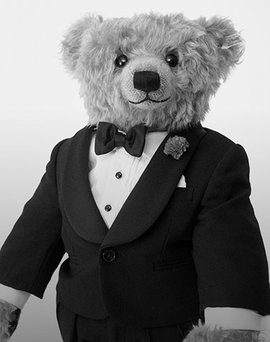 Photograph of Polo Bear in tartan suit
