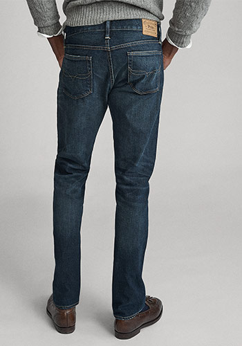 Back of man wearing Polo Slim Straight jeans