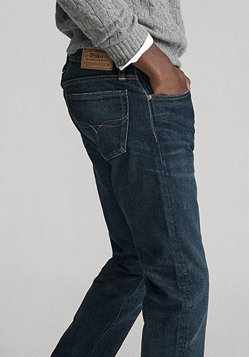 Details shot of pockets on Polo Slim Straight jeans