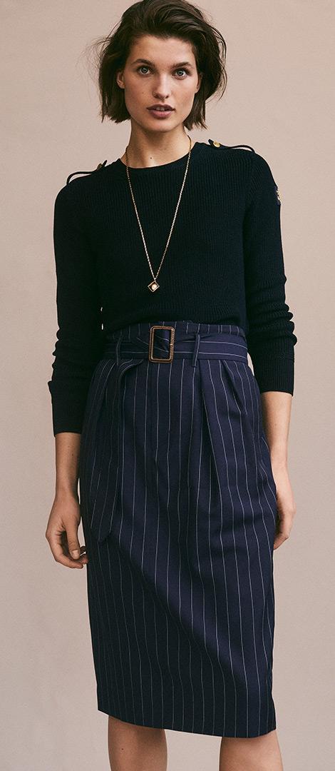 Button-Shoulder Cotton Jumper