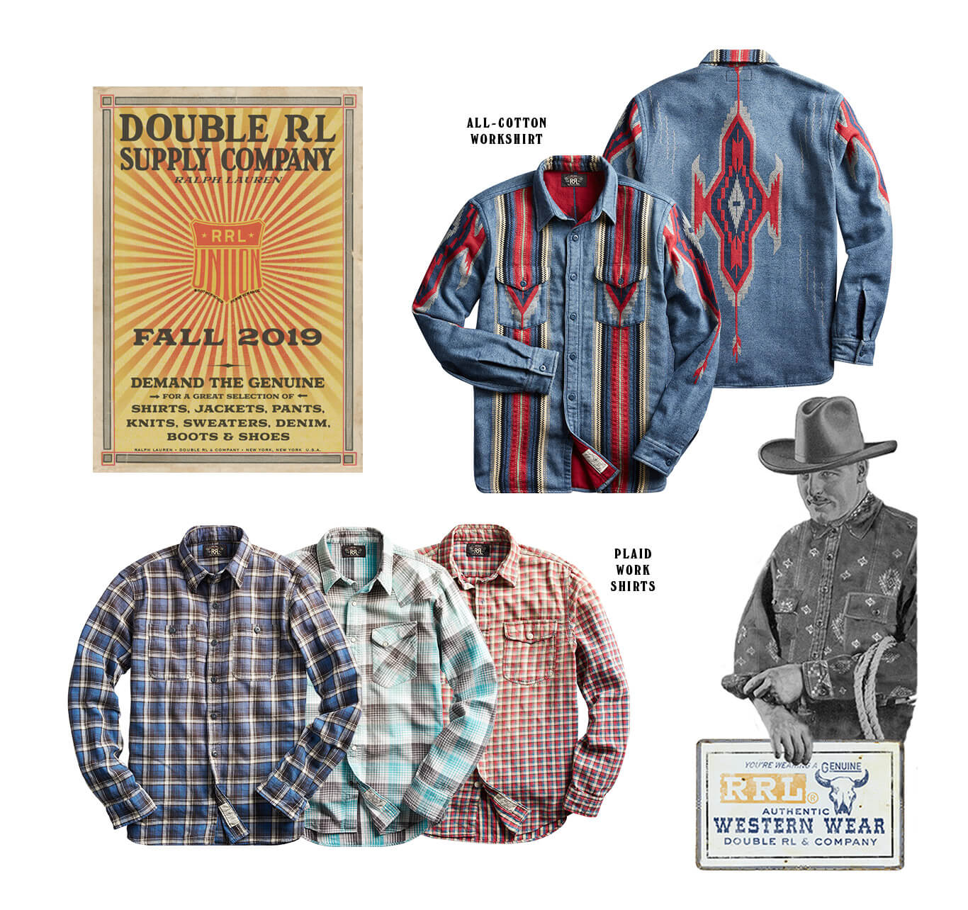 Plaid & Southwestern-inspired button-down shirts