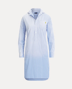 Gestreiftes Hemdkleid aus Popeline
