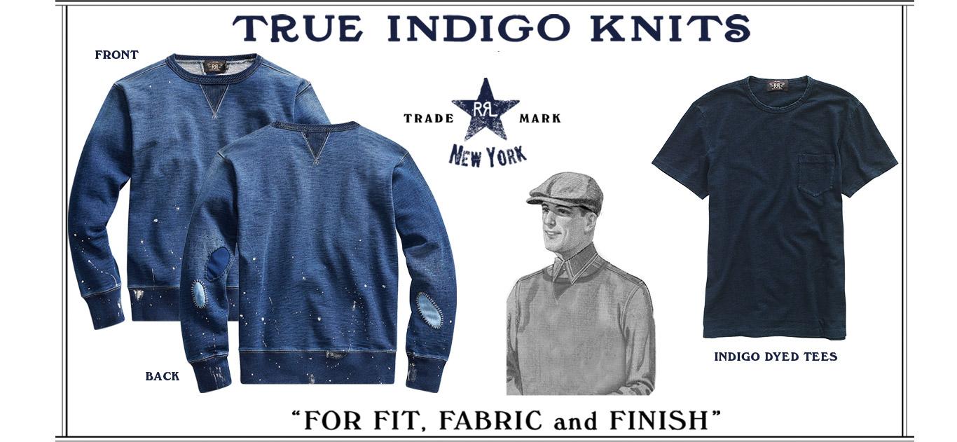 Indigo tees & sweatshirts