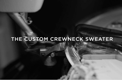 Black & white video of custom-knitting process
