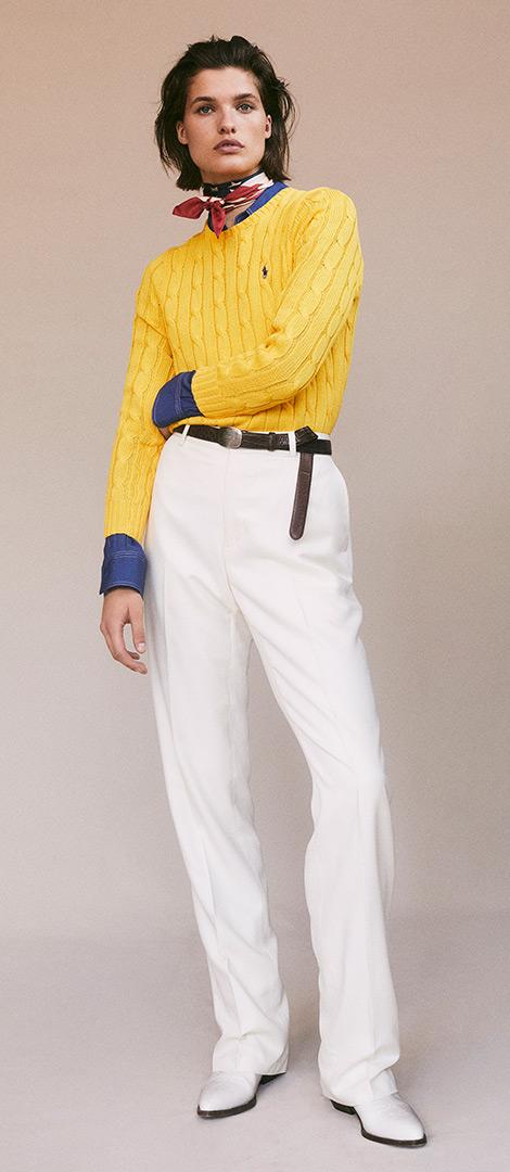 High-Rise Straight Wool Trouser