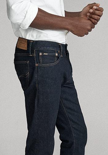 Details shot of pockets on Polo slim jeans