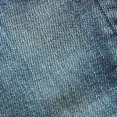 Close-up photograph of denim fabric