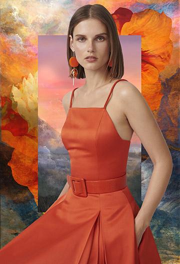 Kyrah Silk Satin Dress